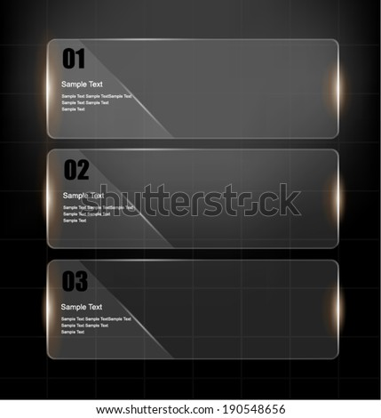 Glass framework design set. Vector illustration - stock vector