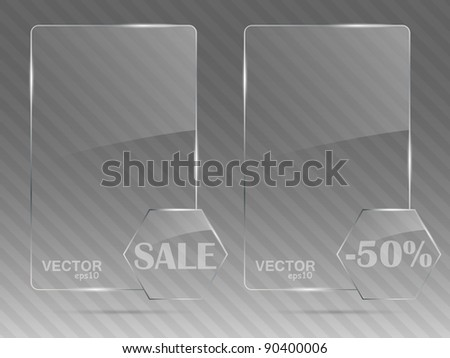 Glass framework set. Vector illustration. - stock vector