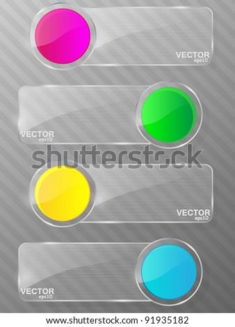 Glass framework set. Vector illustration. - stock vector