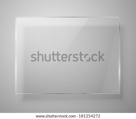 Glass framework. Vector illustration. Eps 10 - stock vector