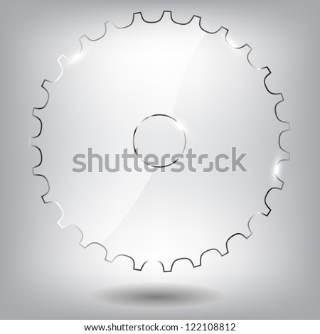 Glass gear vector illustration - stock vector