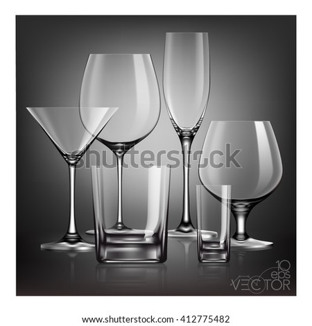 Glass. Glassware. Clear glass. Wineglass.