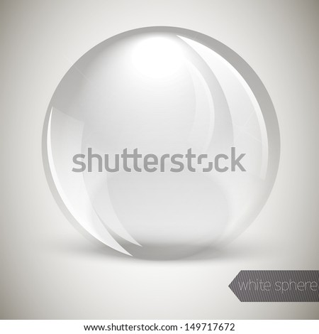 Glass glossy sphere - stock vector