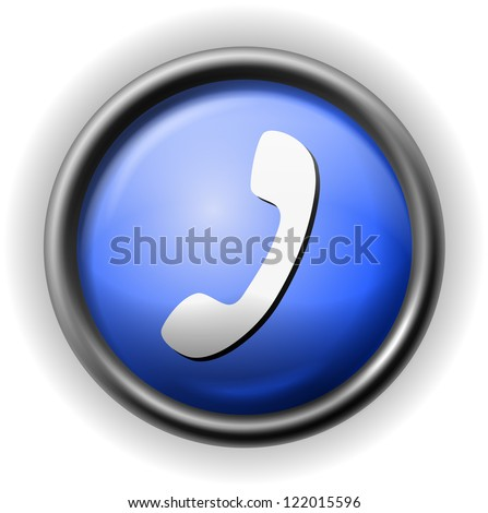Glass handset icon - stock vector