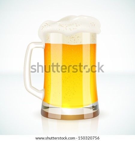 Glass mug of beer, vector illustration for your design