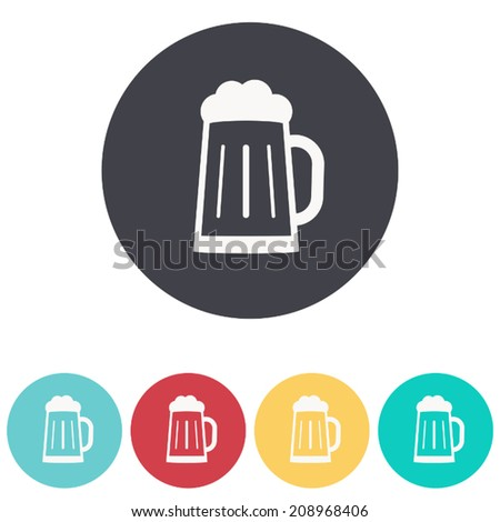 Glass of beer icon , vector illustration - stock vector