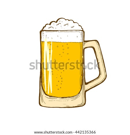 how to draw a beer mug