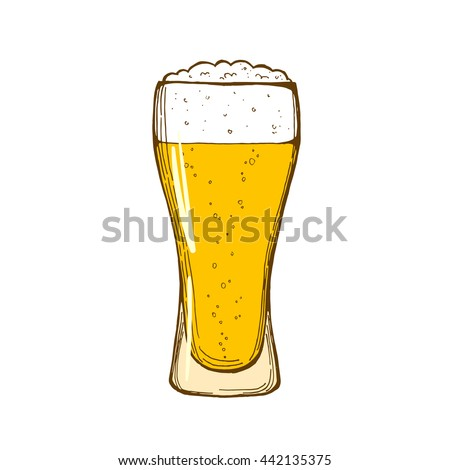 glass beer isolated on white background stock vector royalty free