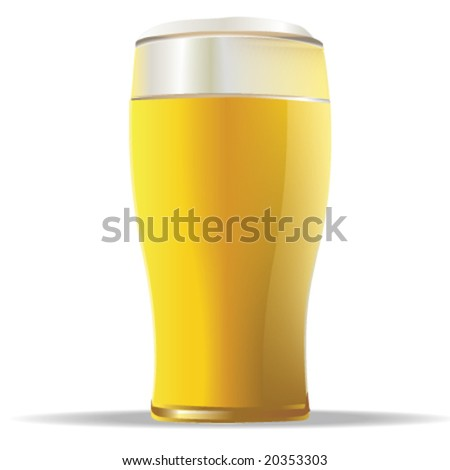 Glass of beer vector - stock vector