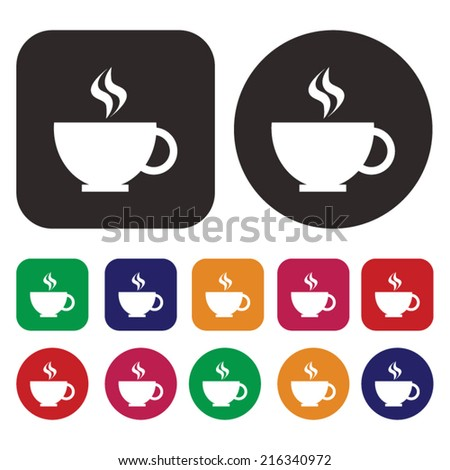 Glass of Coffee icon - stock vector