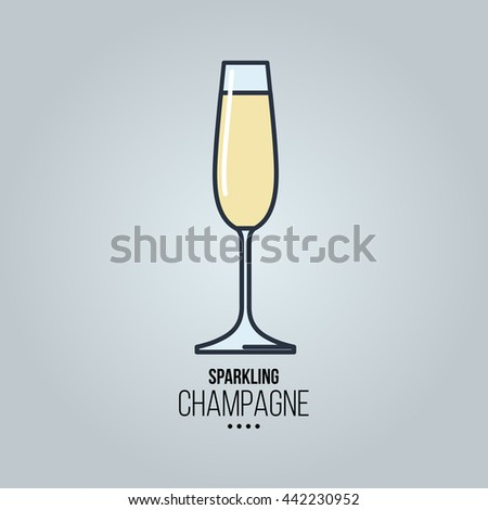 glass of  sparkling Champagne icon