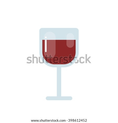 glass of wine icon. vector illustration - stock vector