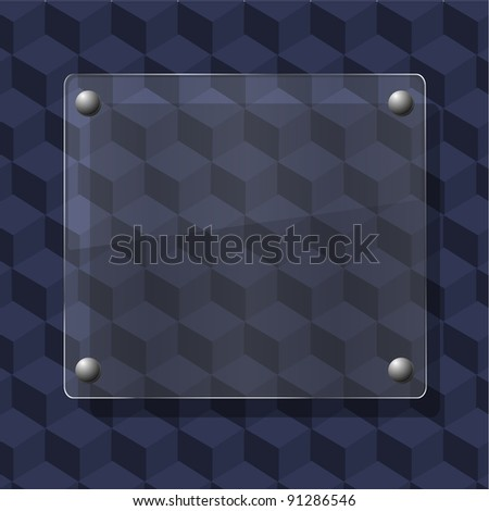 glass on geometric background. Vector illustration