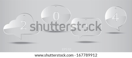 Glass speech icon : Illustration EPS10 - stock vector