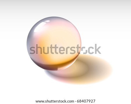 Glass sphere - stock vector