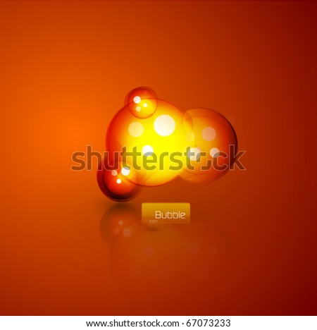 Glass sphere abstract background vector - stock vector
