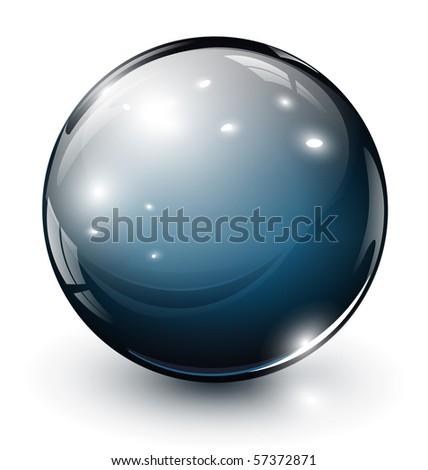 glass sphere, 3D vector illustration. - stock vector