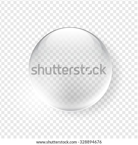 Glass sphere. Vector design - stock vector