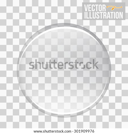 Glass sphere. Vector Glass. Vector illustration.  - stock vector