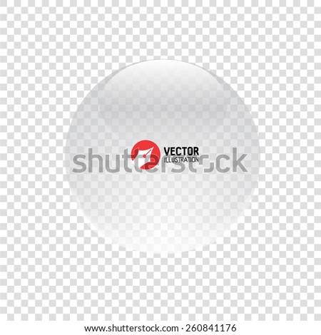 Glass sphere. Vector illustration. - stock vector