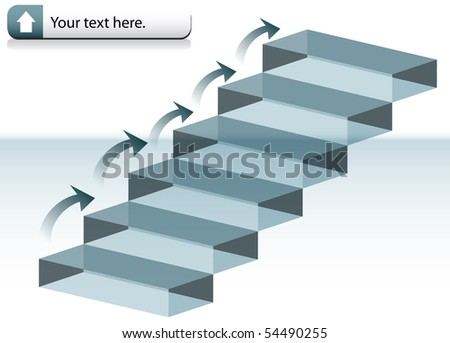 Glass Stairs - stock vector