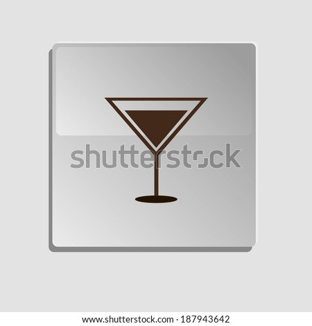 glass, white, crystal,vector - stock vector