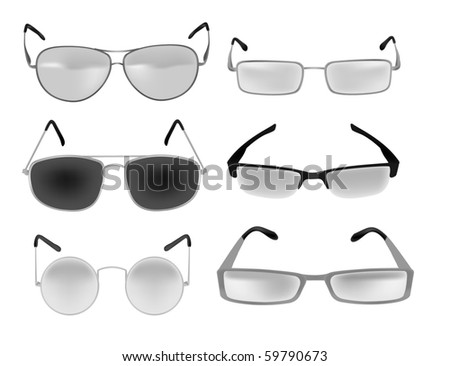 glasses and spectacles vector