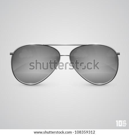 glasses black - stock vector