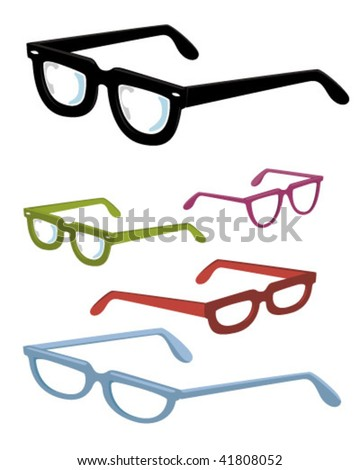 glasses collection - stock vector