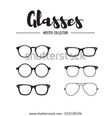 Glasses hipster collection - stock vector