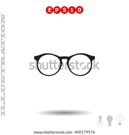 Glasses Icon. Glasses Icon Vector. Glasses Icon Object. Glasses Icon Picture. Glasses Icon Image. Glasses Icon JPG. Glasses Icon JPEG. Glasses Icon EPS. Glasses Icon Drawing. Glasses Icon Graphic. - stock vector