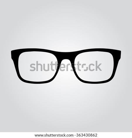 Glasses icon. Gray Vector Illustration. Isolated vector Illustration. Black on Gradient background. EPS Illustration. - stock vector