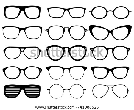 Glasses Model Icons Man Women Frames Stock Photo (Photo, Vector ...