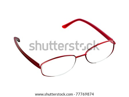 glasses on a white background - stock vector