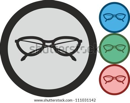 Glasses, vector, icon - stock vector