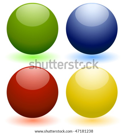 glassy shining 3d spheres