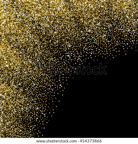 Glitter abstract wave of scattered golden confetti - stock vector