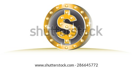 "glitter glowing ""Coin"" vector"