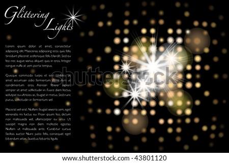 Glitter lights - Vector EPS10 - stock vector