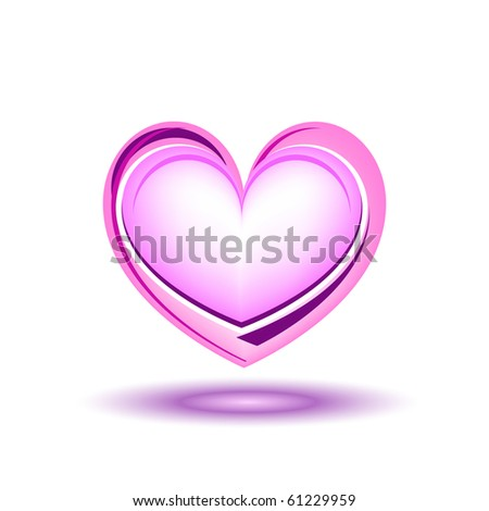 Glitter pink heart, vector illustration - stock vector