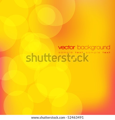 Glittering yellow lights mesh background with text - vector - stock vector