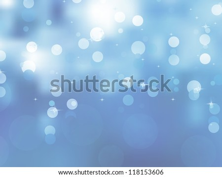 Glittery blue Christmas background. EPS 8 vector file included - stock vector