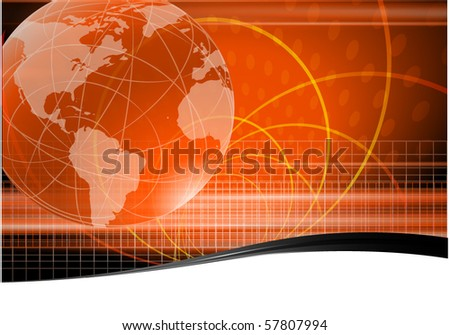 Global abstract. Vector. - stock vector
