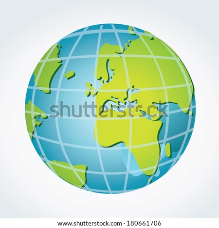 Global, Africa, Middle East and European continents. - stock vector