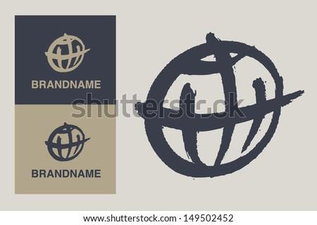 Global branding - stock vector