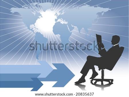 Global Business 2 - stock vector