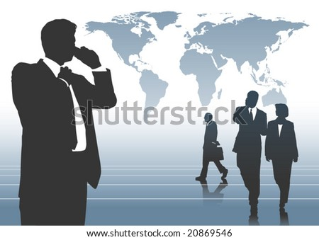 Global Business 3 - stock vector