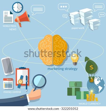 Global business concept startup businessman finance online paperwork management money transaction vector - stock vector