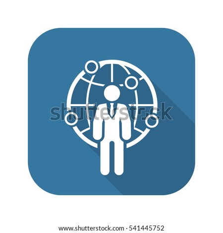 Responsibility vector line icon stock vector 596718542 for Global design firm