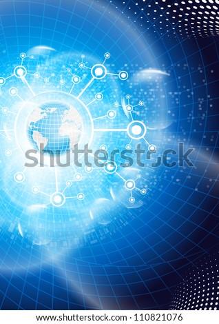 Global business. Vector. - stock vector